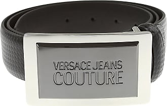 Versace Jeans Couture Mens Belts, Black, Leather, 2017, 36 38 40 42