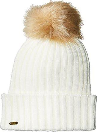 6f6f01d8a54 San Diego Hat Company Womens Rib Knit Beanie with Cuff and Faux Fur Pom