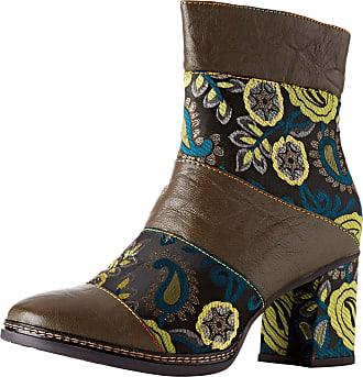 Laura Vita Womens Elcianeo 02 Ankle Boots, Kaki, 3 UK