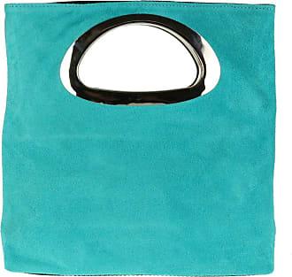 Girly HandBags Girly HandBags Genuine Suede Italian Handbag - Turquoise