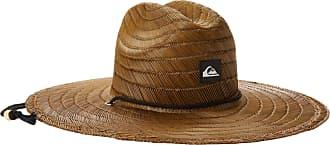 Quiksilver Mens Pierside Straw Sun Hat, Dark Brown, Small/Medium