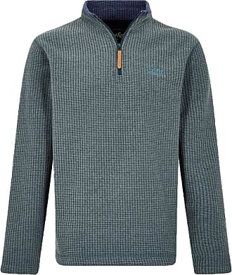Weird Fish Newark 1/4 Zip Grid Fleece Sweatshirt Washed Black Size 2XL