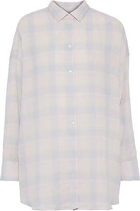 Iro Iro Woman Camar Checked Cotton, Linen And Ramie-blend Flannel Shirt Pastel Pink Size 36