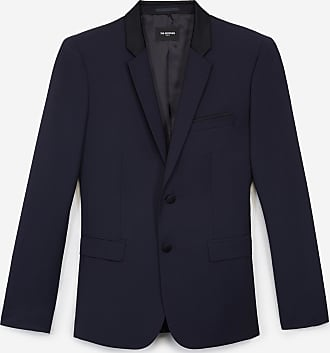The Kooples Formal navy blue jacket with shawl lapel - MEN