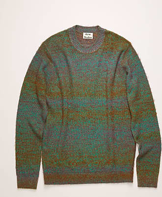 Acne Studios FN-MN-KNIT000047 Green Multicolor Dégradé pilled sweater