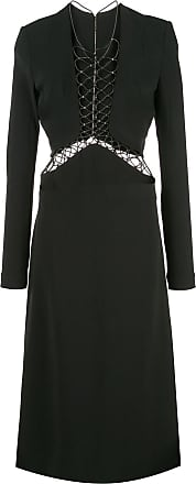 Dion Lee lace up detail dress - Black