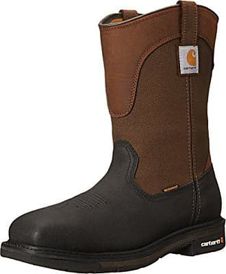 Carhartt Work in Progress Mens 11 Wellington Square Safety Toe Leather Work Boot CMP1258, Brown/Black, 9.5 M US