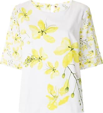 Isolda T-shirt Ácacia estampada - Branco
