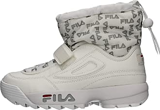 Fila Row 1010750.25Y Womens Snow Mid Trainers White White Size: 8.5 UK