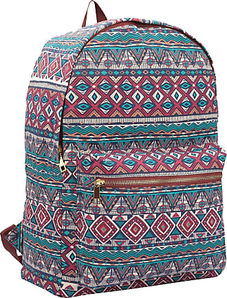Quenchy London Ladies Backpack, Girls Casual Daypack Bag for School, Work or Hand Luggage Travel 20 Litre Size 39cm x32 x16 QL7162R (Red Inca)