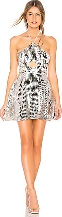 Majorelle London Blakely Mini Dress in Metallic Silver