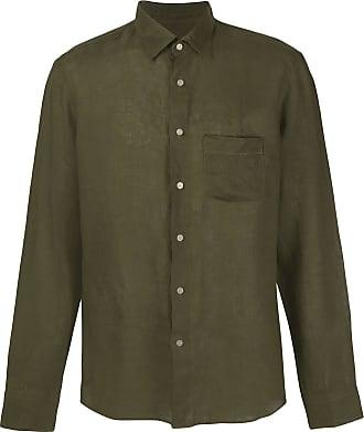 Peninsula Camisa com abotoamento simples de linho - Verde