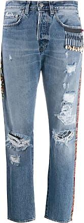 Giacobino Calça jeans com aplicações - Azul