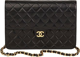 a17324240ec8 Chanel 2001 Chanel Black Quilted Lambskin Vintage Medium Classic Single  Flap Bag