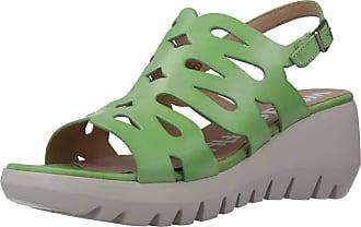 Wonders Women Sandals and Slippers Women D9003 Green 3.5 UK