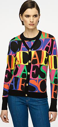 Escada Wool Silk Logo Cardigan