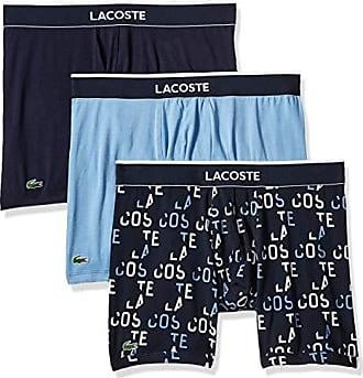 f36ff208e11504 Lacoste Mens Cotton Stretch Boxer Brief Underwear, Multipack, Allure/True  Blue - 3