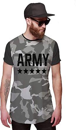 Di Nuevo Camiseta Longline Exército Camuflada Army Swag