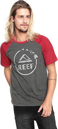 Reef Camiseta Reef Camo Gradient Raglan Cinza