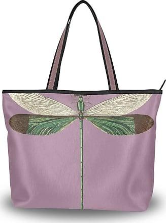 Lorona Women Stream Glory Neurobasis Chinensis Canvas Shoulder Hand Bag Large Capacity Tote Bag