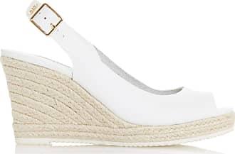 Dune London Dune Ladies Womens Knox 2 Slingback Espadrille Wedge Heel Sandals Size UK 6 White Wedge Heel Espadrilles