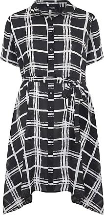 Yours Clothing Clothing Womens Plus Size Check Shirt Dress Size 24 Black