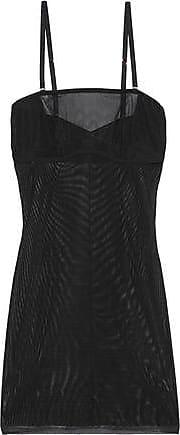 Yummie Tummie Yummie By Heather Thomson Woman Stretch-mesh Slip Black Size XS