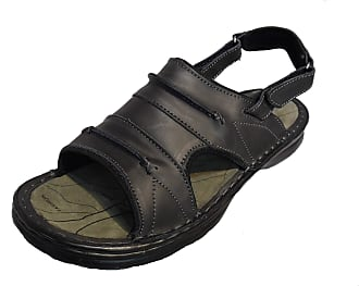 Northwest Territory Mens Savanna Beach Casual Leather Strap Sandals UK 10 Black