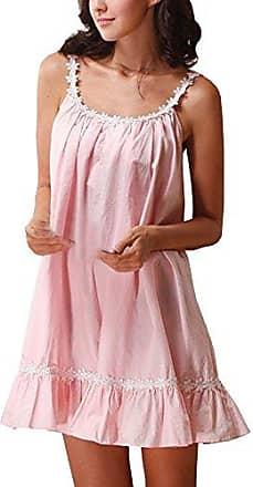 Cheerlife Damen Seide Morgenmantel mit Nachtkleid Nachthemd Spitze lange H/ülsen Pyjamas Zweiteilig Schlafanzug Nachtw/äsche