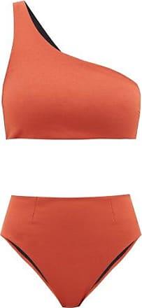 Haight Perlin One-shoulder Crepe Bikini - Womens - Dark Orange