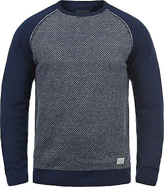Blend Gajus Mens Jumper Knit Pullover with Crew Neck Made of 100% Cotton, Size:XXL, Colour:Navy (70230)