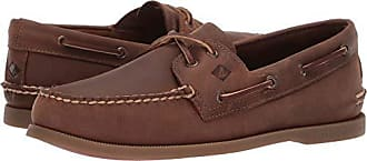 Sperry Top-Sider Sperry Mens A/O 2-Eye Richtown Boat Shoe Oxford, Brown, 9.5 M US