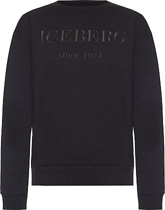 Iceberg Logo-embroidered Sweatshirt Womens Black