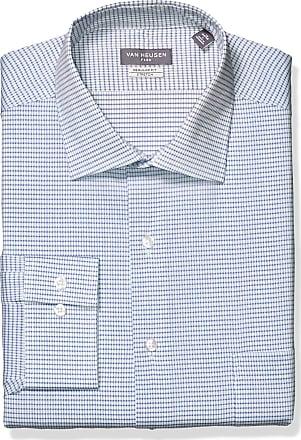 Van Heusen Mens Big Dress Shirts Tall Fit Flex Check, Blueberry, 20 Neck 35-36 Sleeve