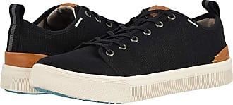17c551160bb Toms TRVL LITE Low (Black Heritage Canvas) Mens Lace up casual Shoes