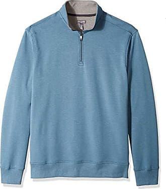 Van Heusen Mens Big and Tall Flex Fleece Long Sleeve Quarter Zip, turquoise riverbed, 3X-Large Big