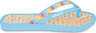 Urban Beach Ladies Sweet Toe Post Beach Flip Flops Sandals Shoes (UK 3, Blue)