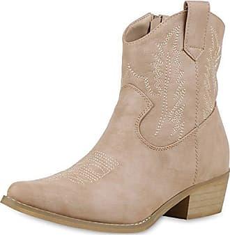 e522c99c2598ab Scarpe Vita Damen Stiefeletten Cowboy Boots Western Schuhe Stickereien  Stiefel 174020 Nude 40