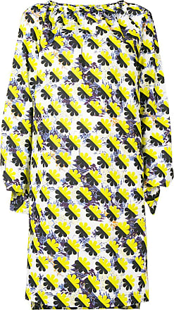 Odeeh Vestido color block - Amarelo