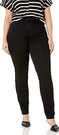 NYDJ Womens Plus Size Alina Skinny Jeans, Black, 22W