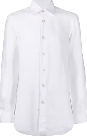 Kiton Klassisches Leinenhemd - Weiß