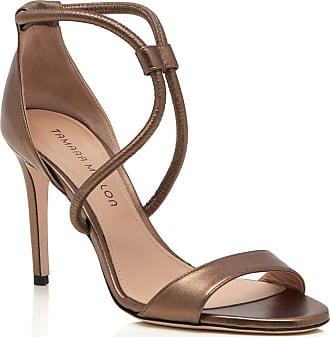 Tamara Mellon Pipe Bronze Nappa Laminata Sandals, Size - 35.5