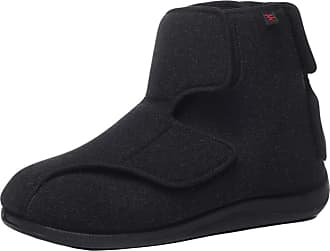 Insun Unisex Wide Adjustable Orthopedic Slipper Bootie Black 9.5 UK Wide Women/9.5 UK Wide Men