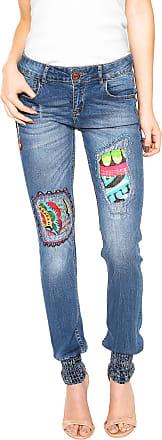 Desigual Calça Jeans Desigual Skinny Africa Azul