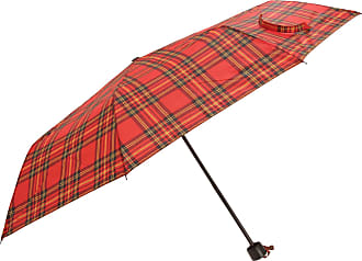 Universal Textiles Womens/Ladies Wind Resistant Tartan Check Compact Close Umbrella (One Size, Red)