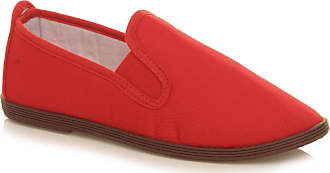 Ajvani Womens Ladies Flat Espadrilles Beach Canvas Slip on Plimsoles Pumps Size 4 37 Red