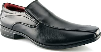 US Brass Mens New Office Work Back To School Slip On Twin Gusset Formal Shoes Size 7-14 - Black - UK 13
