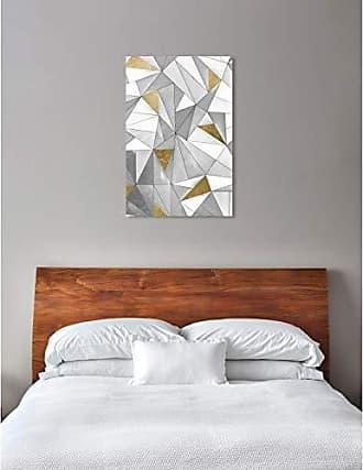 The Oliver Gal Artist Co. The Oliver Gal Artist Co. Abstract Art Canvas Prints Triangular Wall Home Décor 30 x 45 Gray, Gold