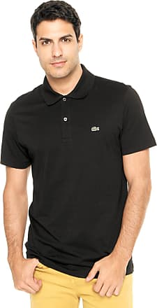 045dc6fdd50 Lacoste Camisa Polo Lacoste Regular Fit Preta