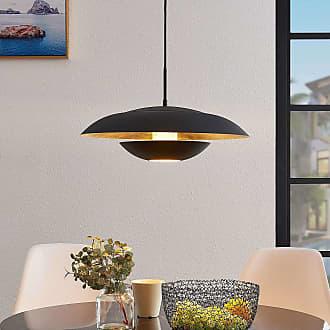 Lindby Sayra lámpara colgante de metal, negro-oro